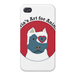 Olivia s Art for Animals Logo iPhone 4 Case