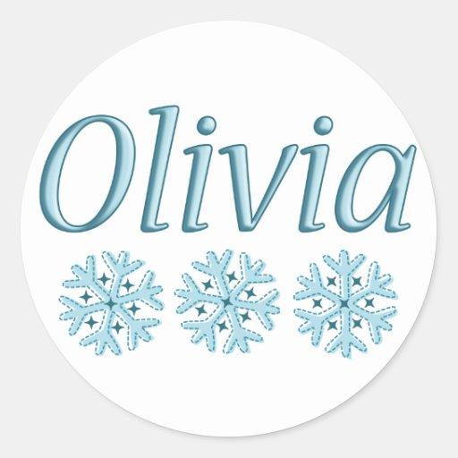 Olivia Snowflake Stickers