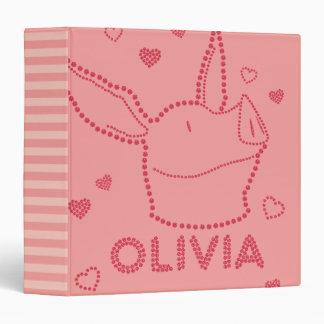 Olivia - Sparkles 3 Ring Binder