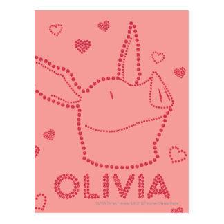 Olivia - Sparkles Postcard