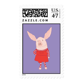 Olivia Standing Postage Stamp