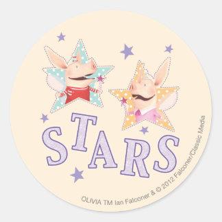 Olivia - Stars Classic Round Sticker