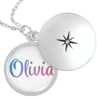 Olivia Stylish Cursive Locket Necklace