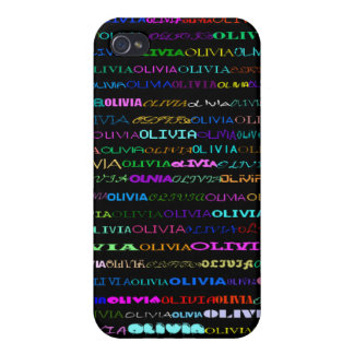 Olivia Text Design I  Cases For iPhone 4