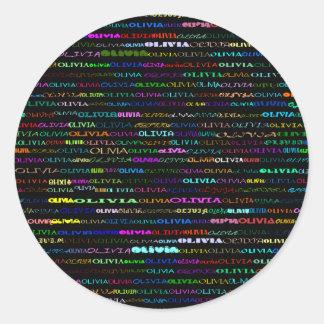 Olivia Text Design I Sticker