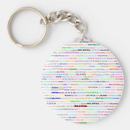 Olivia Text Design II Keychain