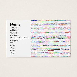 Olivia Text Design II, Name, Address 1, Address... Business Card