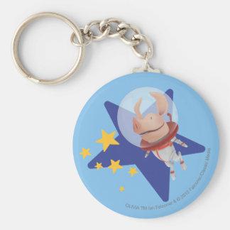 Olivia the Astronaut Basic Round Button Keychain