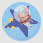 Olivia the Astronaut Classic Round Sticker