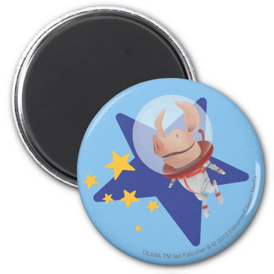 Olivia the Astronaut Magnet