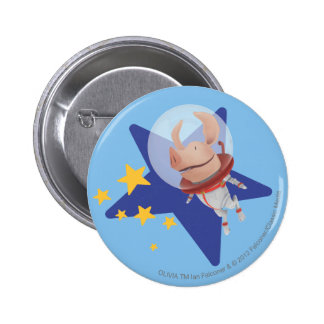 Olivia the Astronaut Pinback Button