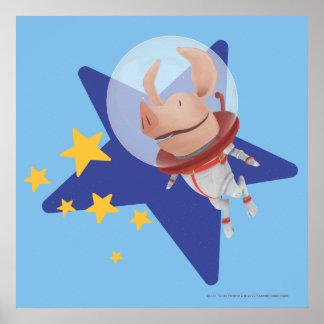 Olivia the Astronaut Print