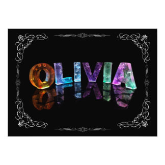 Olivia  - The Name Olivia in 3D Lights (Photograph Photo Print