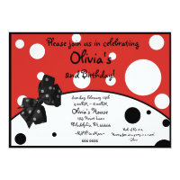 Olivia The Pig Inspired Invitation