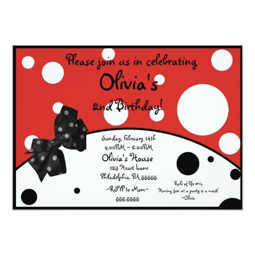 Olivia The Pig Inspired Invitation