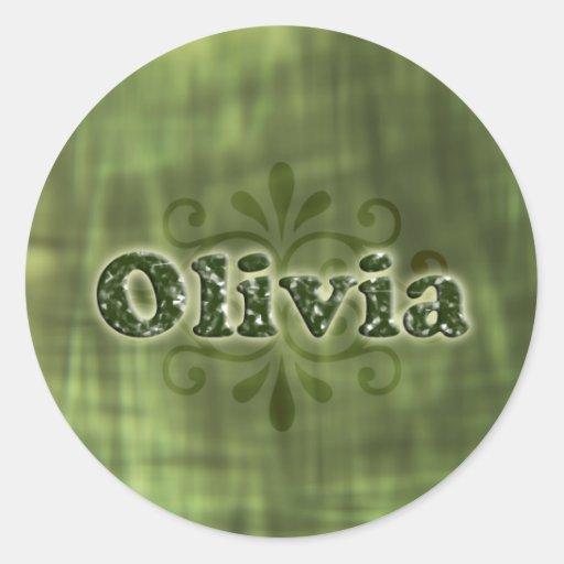 Olivia verde pegatinas