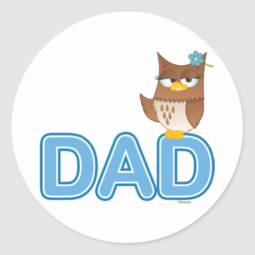 Olivia VonHoot Cartoon Character for Dad - Classic Round Sticker