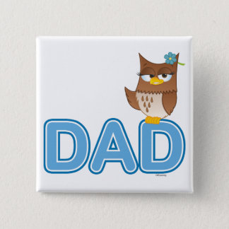 Olivia VonHoot Cartoon Character for Dad - Pinback Button