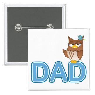 Olivia VonHoot Cartoon Character for Dad - Pinback Button