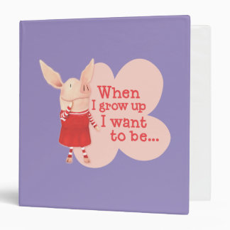 Olivia - When I Grow up 3 Ring Binder