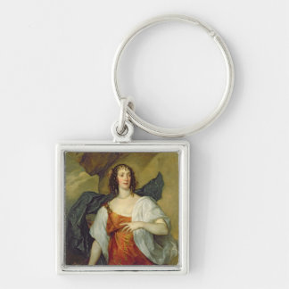 Olivia, Wife of Endymion Porter, c.1637 Silver-Colored Square Keychain