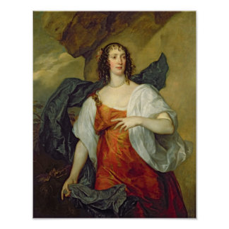 Olivia, Wife of Endymion Porter, c.1637 Poster