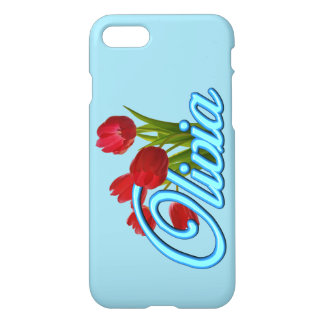 Olivia with Tulips iPhone 7 Case