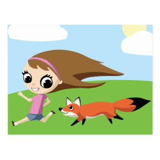 Olivia y chedariza el Fox Tarjetas Postales