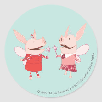 Olivia y Francisca - hada Pegatina Redonda