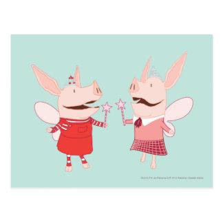 Olivia y Francisca - hada Tarjeta Postal