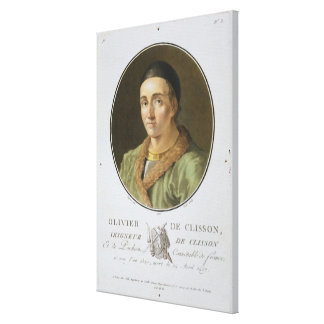 Olivier de Clisson (1336-1407) from 'Portraits des Canvas Print