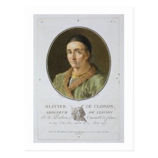 Olivier de Clisson (1336-1407) from 'Portraits des Postcard