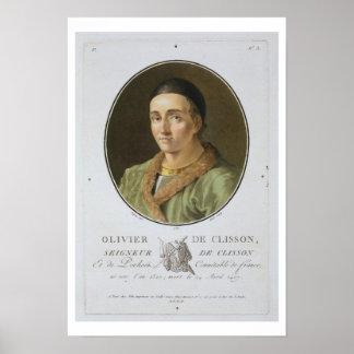 Olivier de Clisson (1336-1407) from 'Portraits des Poster