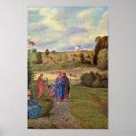 Olivier Ferdinand - Jesus and his disciples Print