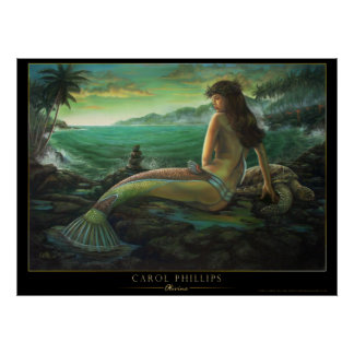 olivine- hawaiian mermaid poster carol phillips