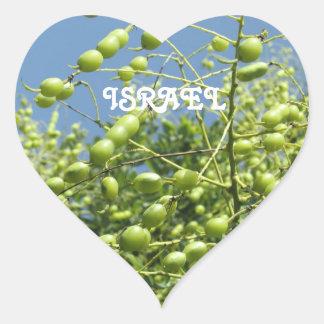 Olivo en Israel Pegatina En Forma De Corazón