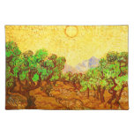 Olivos cielo amarillo y Sun de Van Gogh Mantel