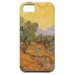 Olivos, cielo amarillo y Sun, Vincent van Gogh iPhone 5 Case-Mate Coberturas