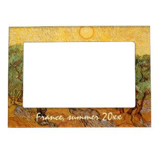 Olivos, cielo amarillo y Sun, Vincent van Gogh Marcos Magneticos De Fotos
