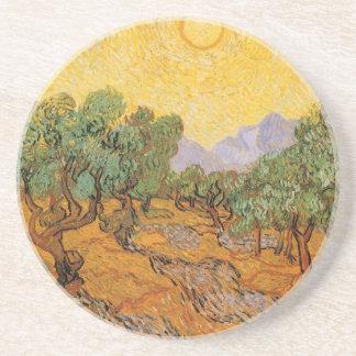 Olivos cielo amarillo y Sun Vincent van Gogh