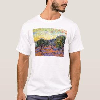 Olivos, cielo anaranjado Van Gogh Vincent Playera