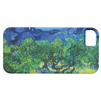Olivos con el Alpilles en el fondo iPhone 5 Carcasas