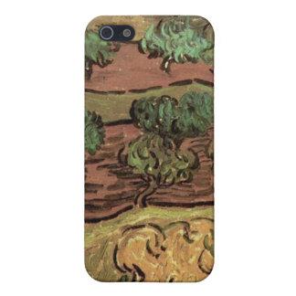 Olivos contra una cuesta de una colina de Van Gogh iPhone 5 Cobertura