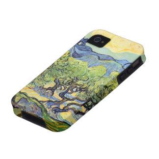 Olivos de Van Gogh, arte del paisaje del vintage Vibe iPhone 4 Carcasa