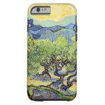 Olivos de Van Gogh, arte del paisaje del vintage Funda De iPhone 6 Tough