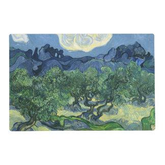 Olivos de Van Gogh el   el   1889 Tapete Individual