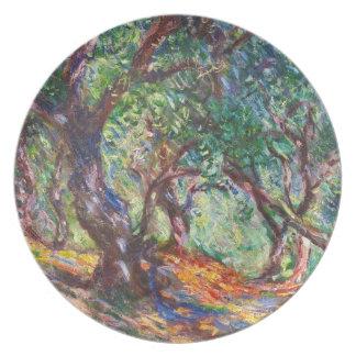 Olivos en Bordighera, Claude Monet 1884 Platos De Comidas