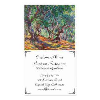 Olivos en Bordighera, Claude Monet 1884 Tarjetas De Visita