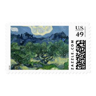 Olivos por el franqueo de Van Gogh Estampillas