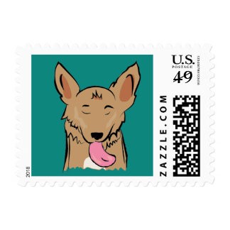 Ollie Dog Postage Stamp